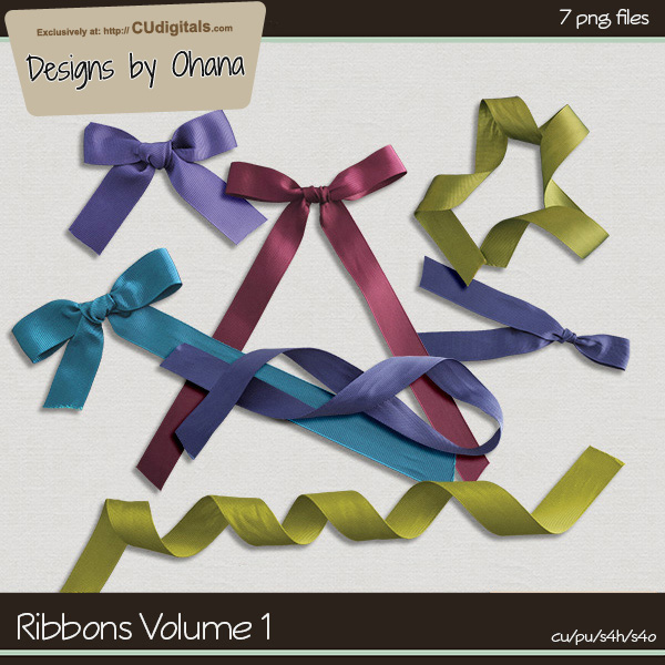 Ribbons Volume 1 by Ohana Designs