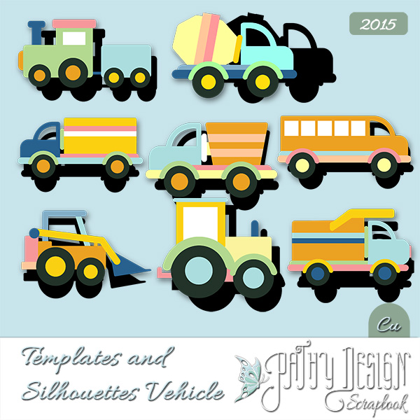 Template and Silhouettes Vehicle Pathy Design