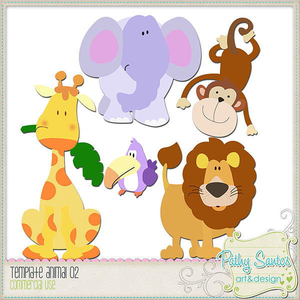 Zoo Animals TEMPLATES Pack 02 by Pathy Design