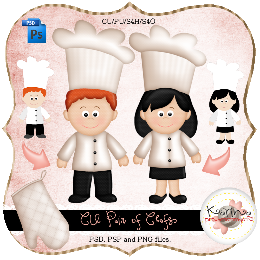 Pair Of Chefs Layered Template By Peek A Boo Designs  Chef Templates