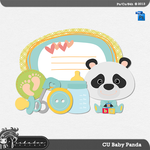 Baby Panda Layered Template by Peek a Boo Designs
