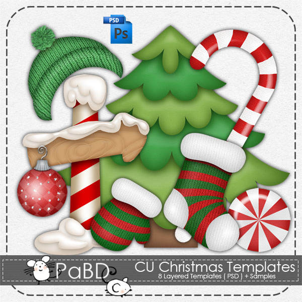 Christmas Layered Template by Peek a Boo Designs