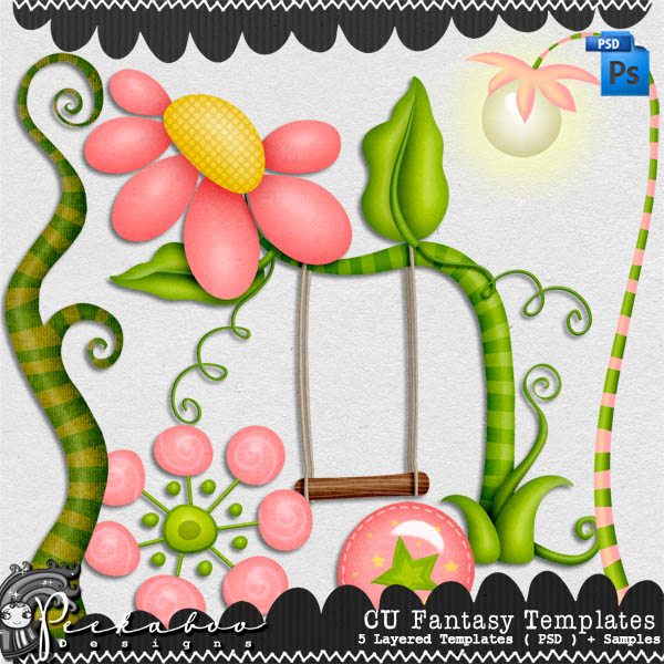 Fantasy Layered Template by Peek a Boo Designs