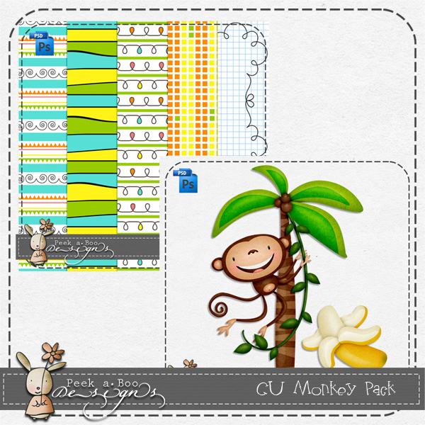 Monkey Pack Layered Template by Peek a Boo Designs