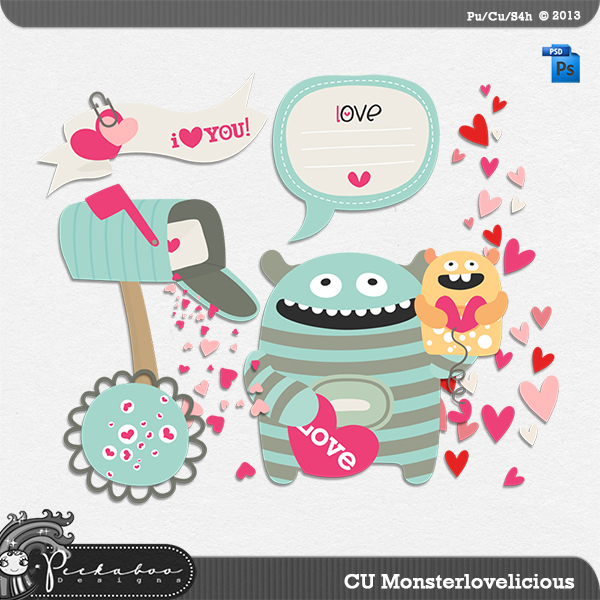 Monster love a Licious Layered Template by Peek a Boo Designs
