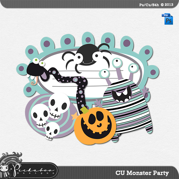 Monster PartyTemplate by Peek a Boo Designs