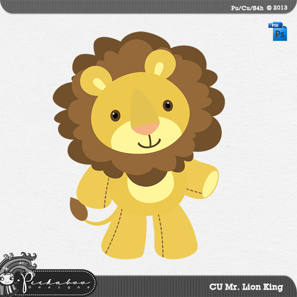 Mr Lion King Layered Template by Peek a Boo Designs