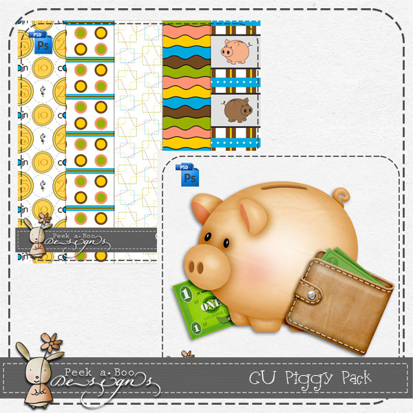 Piggy Pack Layered Template by Peek a Boo Designs