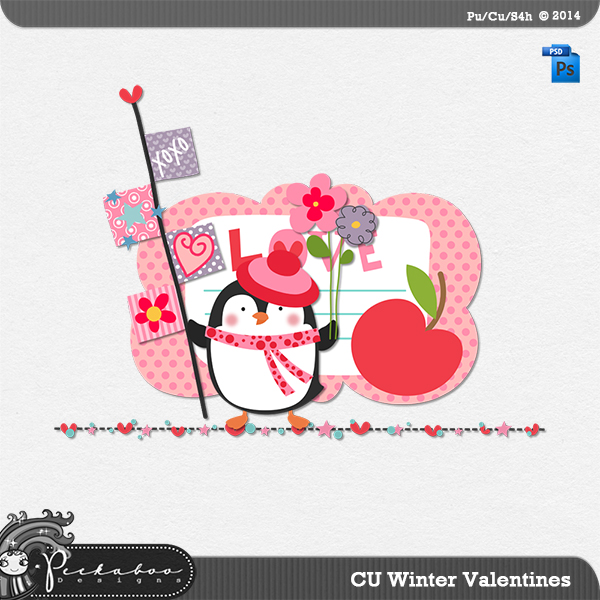 Winter Valentines Layered Template by Peek a Boo Designs
