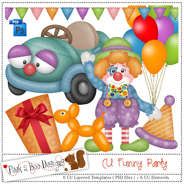 Funny Party Layered Template by Peek a Boo Designs