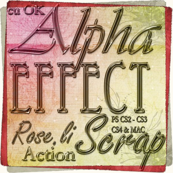 Action - Alpha Effect by Rose.li