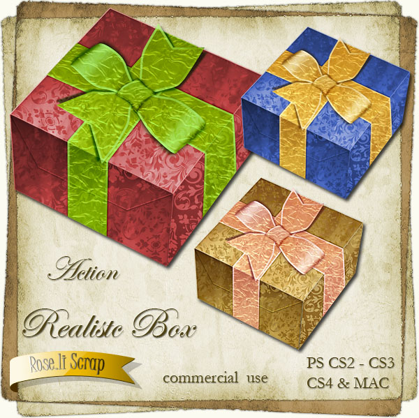 Action - Realistic Holiday Gift Box by Rose.li