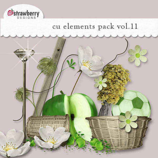 Spring Apple Element Mix Vol 11 by Strawberry Designs