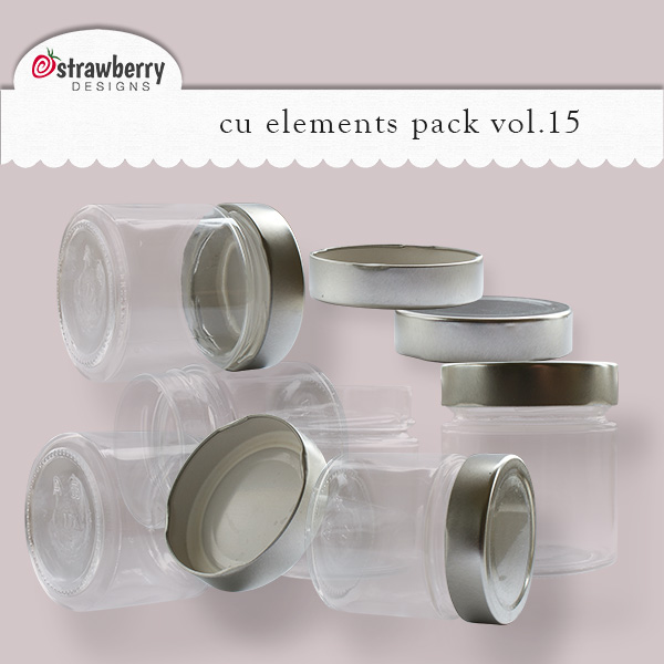 Glass Jars Element Mix Vol 15 by Strawberry Designs