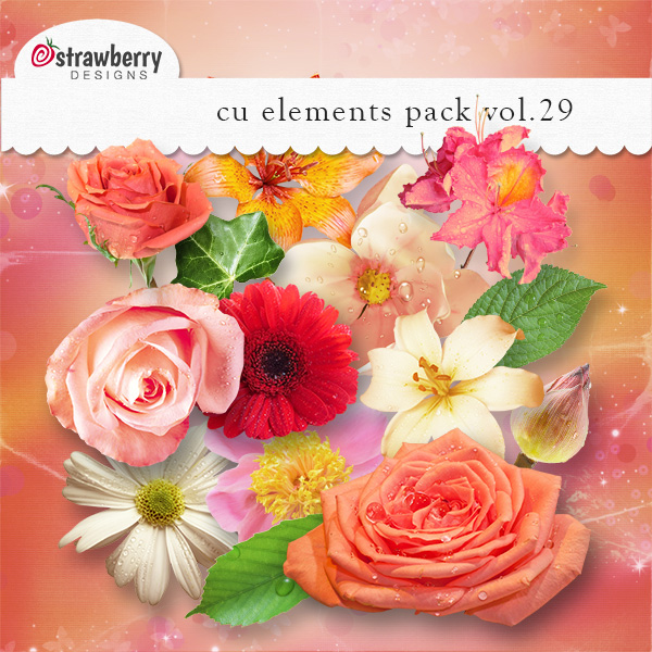 Flowers Element Mix Vol 29 by Strawberry Designs