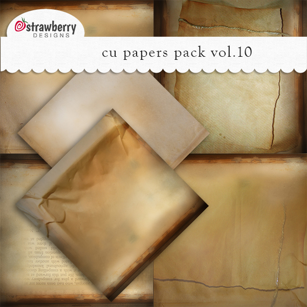 Commercial Use Papers Vol 10 Brown - by Strawberry Designs