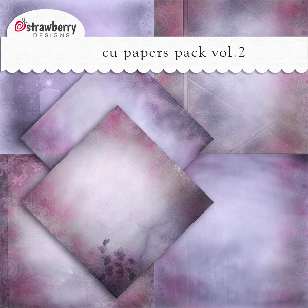 CU Papers Vol 2 Violet by Strawberry Designs