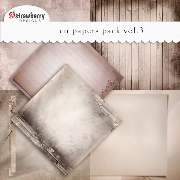 Commercial Use Papers Vol 3 Brown - by Strawberry Designs