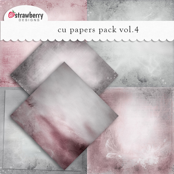 Commercial Use Papers Vol 4 Grey - by Strawberry Designs