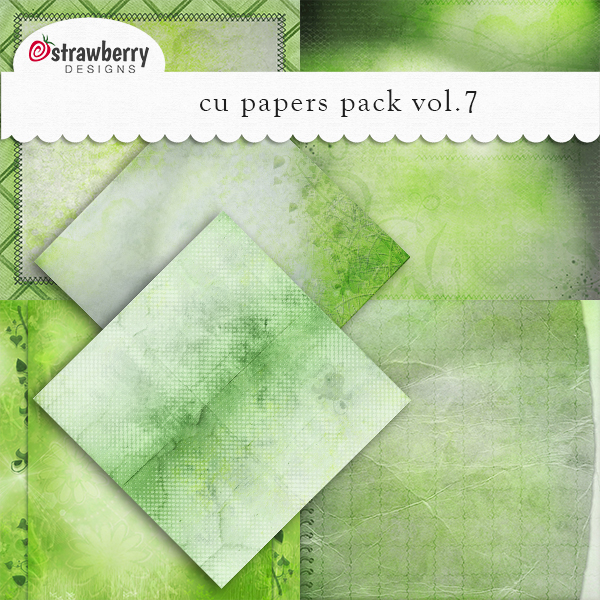 Commercial Use Papers Vol 7 Green - by Strawberry Designs