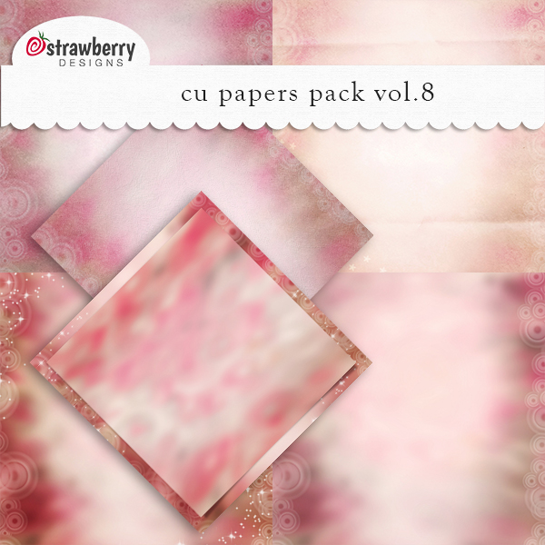 CU Papers Vol 8 Pink by Strawberry Designs